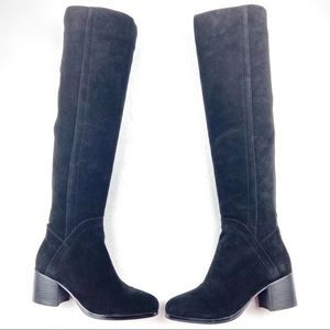 MARC FISHER Elanie Over-the-Knee Boot 8 Wide black